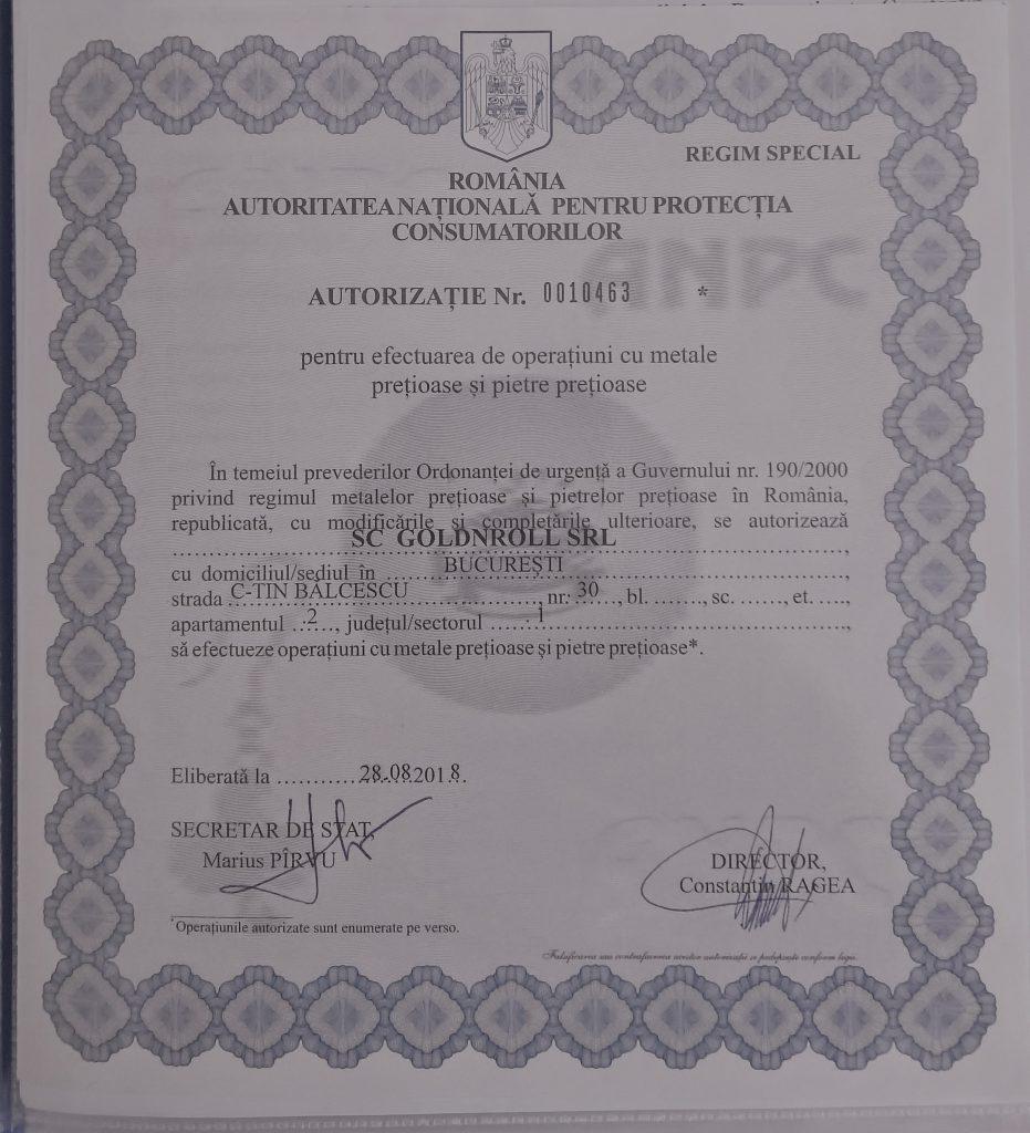 Autorizație ANPC